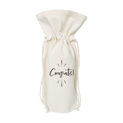 Congrats Cotton Canvas Wine Bag - The Cotton and Canvas Co.