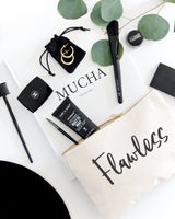 Flawless Cotton Canvas Cosmetic Bag - The Cotton and Canvas Co.