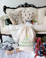 Falalalala Christmas Holiday Pillow Cover - The Cotton and Canvas Co.