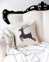 Reindeer Christmas Holiday Pillow Cover - The Cotton and Canvas Co.