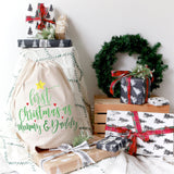 First Christmas as Mommy and Daddy Christmas Santa Sack - The Cotton and Canvas Co.
