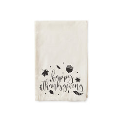 Happy Thanksgiving Cotton Muslin Napkins - The Cotton and Canvas Co.