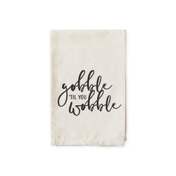 Gobble til you Wobble Cotton Muslin Napkins - The Cotton and Canvas Co.