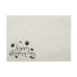 Happy Thanksgiving Canvas Place Mat - The Cotton and Canvas Co.