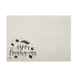 Happy Friendsgiving Canvas Place Mat - The Cotton and Canvas Co.