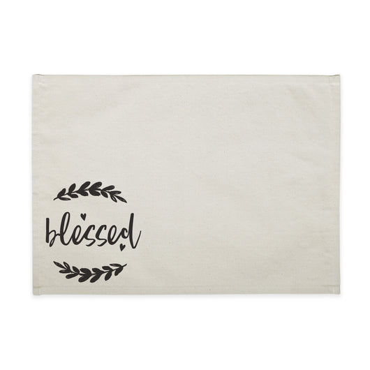 Blessed Cotton Canvas Place Mat - The Cotton and Canvas Co.