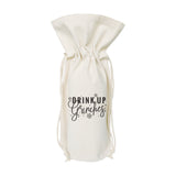 Drink up Grinches Christmas Canvas Wine Bag - The Cotton and Canvas Co.