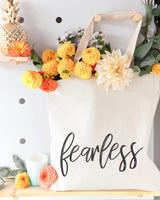 Fearless Gym Cotton Canvas Tote Bag - The Cotton and Canvas Co.