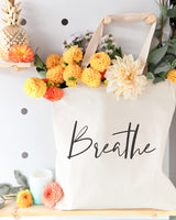 Breathe Gym Cotton Canvas Tote Bag - The Cotton and Canvas Co.