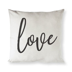 Love Cotton Canvas Pillow Cover