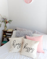 Hugs and Kisses Pillow Cover, 2 Pack - The Cotton and Canvas Co.