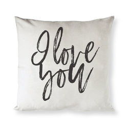 I Love You Pillow Cover - The Cotton and Canvas Co.