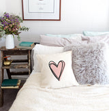Heart Pillow Cover - The Cotton and Canvas Co.