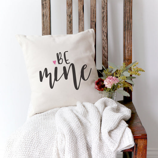 Be Mine Cotton Canvas Pillow Cover The Cotton And Canvas Co