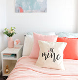 Be Mine Cotton Canvas Pillow Cover - The Cotton and Canvas Co.