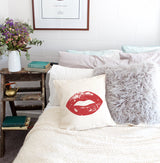 Lips Pillow Cover - The Cotton and Canvas Co.