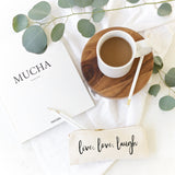 Live, Love, Laugh Cotton Canvas Pencil Case and Travel Pouch - The Cotton and Canvas Co.