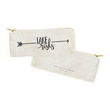 Take Risks Cotton Canvas Pencil Case and Travel Pouch - The Cotton and Canvas Co.
