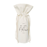 Mr. & Mrs. with Last Namer Cotton Canvas Wine Bag - The Cotton and Canvas Co.