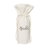 Bride Cotton Canvas Wine Bag - The Cotton and Canvas Co.