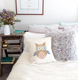 Owl Baby Pillow Cover - The Cotton and Canvas Co.