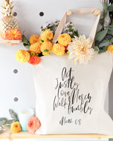 Act Justly Love Mercy Walk Humbly, Micah 6:8 Cotton Canvas Tote Bag - The Cotton and Canvas Co.