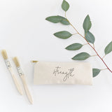 Strength Cotton Canvas Pencil Case and Travel Pouch