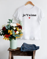 Je T'aime Women's Graphic Tee - The Cotton and Canvas Co.