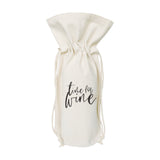 Time for Wine Cotton Canvas Wine Bag - The Cotton and Canvas Co.