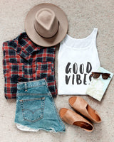 Good Vibes Tank - The Cotton and Canvas Co.