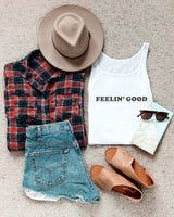 Feelin' Good Tank - The Cotton and Canvas Co.