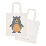 Bear Cotton Canvas Tote Bag - The Cotton and Canvas Co.