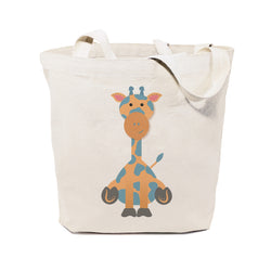 Giraffe Cotton Canvas Tote Bag - The Cotton and Canvas Co.