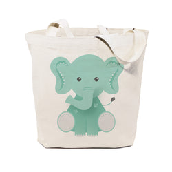 Elephant Cotton Canvas Tote Bag - The Cotton and Canvas Co.