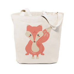 Fox Cotton Canvas Tote Bag - The Cotton and Canvas Co.