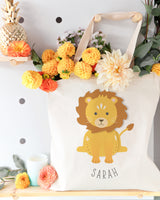 Lion Personalized Cotton Canvas Tote Bag - The Cotton and Canvas Co.