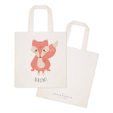 Fox Personalized Cotton Canvas Tote Bag - The Cotton and Canvas Co.