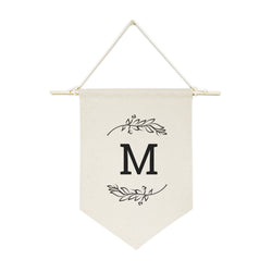 Personalized Monogram with Vine Hanging Wall Banner