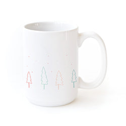 Mini Christmas Trees Coffee Mug - The Cotton and Canvas Co.
