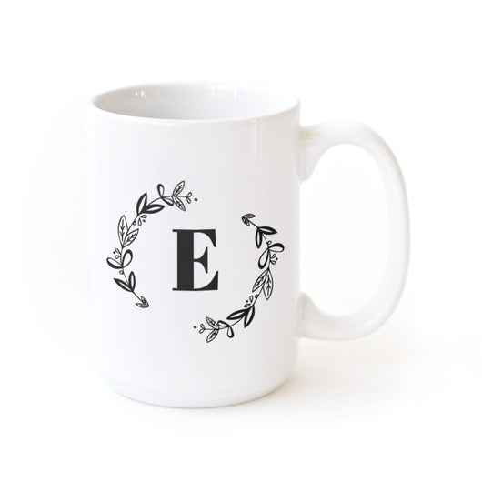 Botanical Monogram Personalized Coffee Mug - The Cotton and Canvas Co.
