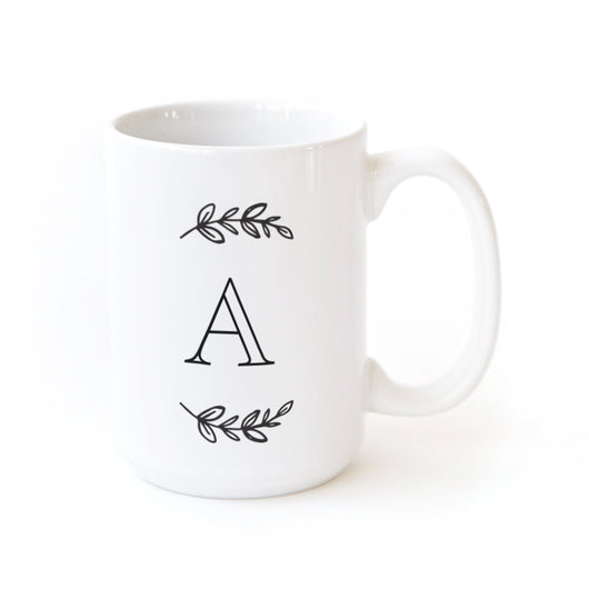 Manhattan Wreath Personalized Monogram Coffee Mug - The Cotton and Canvas Co.