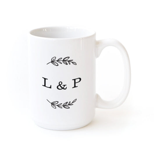 Forever Yours Couple Monogram Personalized Coffee Mug - The Cotton and Canvas Co.