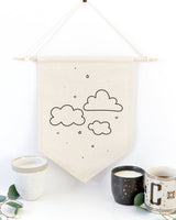 Clouds Hanging Wall Banner - The Cotton and Canvas Co.