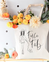 Fierce and Fab Cotton Canvas Tote Bag - The Cotton and Canvas Co.