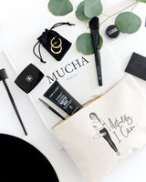 Actually, I Can Cotton Canvas Cosmetic Bag - The Cotton and Canvas Co.