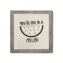 You're One in a Melon Canvas Kitchen Wall Art - The Cotton and Canvas Co.