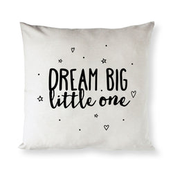 Dream Big Little One Baby Cotton Canvas Pillow Cover - The Cotton and Canvas Co.