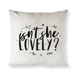 Isn't She Lovely Bear Baby Cotton Canvas Pillow Cover - The Cotton and Canvas Co.