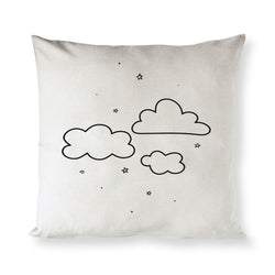 Clouds Baby Cotton Canvas Pillow Cover - The Cotton and Canvas Co.