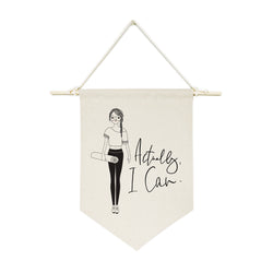 Actually, I Can Hanging Wall Banner - The Cotton and Canvas Co.